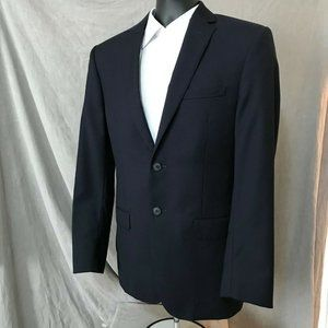 Jos A Bank Mens Pinstripe Sport Coat Wool Blazer